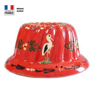 Moule Kouglof Rouge décor cigogne