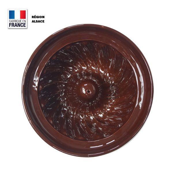 Moule à kougelhopf en poterie