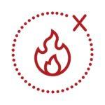 eviter le contact direct avec une flamme