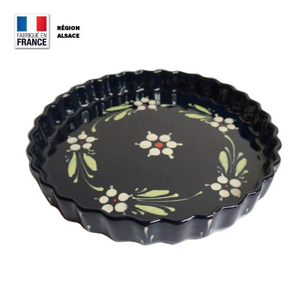 Moule à tarte en poterie