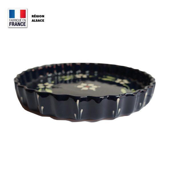 Moule à tarte en poterie fabriqué en Alsace