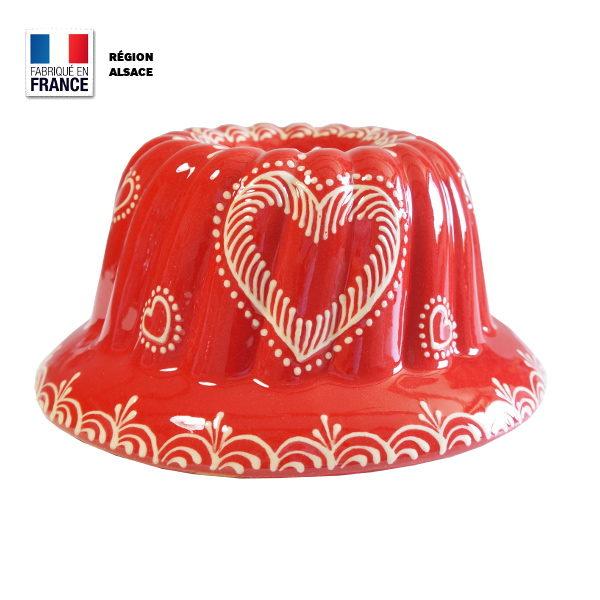 Moule à Kouglof Rouge 24 cm / Coeur
