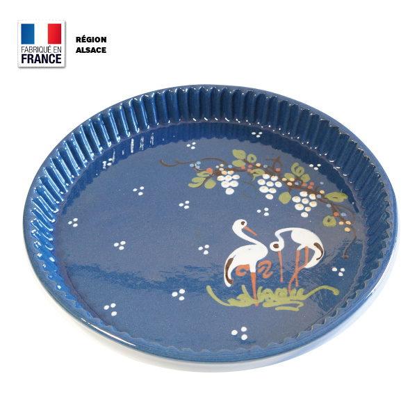 Moule à Tarte Bleu - Cigogne