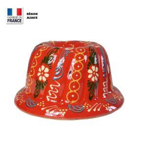 Moule à Kouglof Rouge décor Marguerite 20 cm