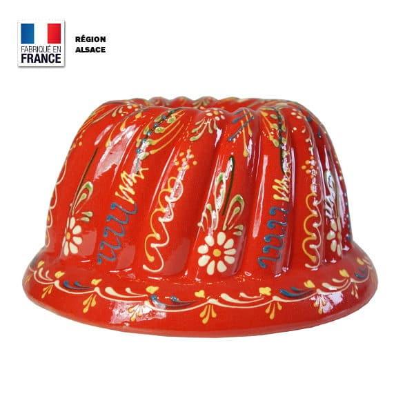Moule à Kouglof Rouge 26 cm / Décor Marguerite