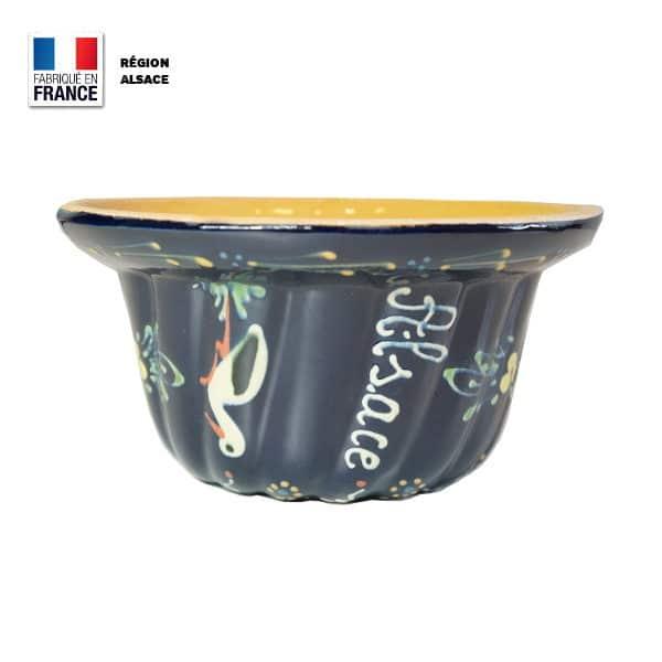 Moule à Kouglof Bleu décor Cigogne 20 cm