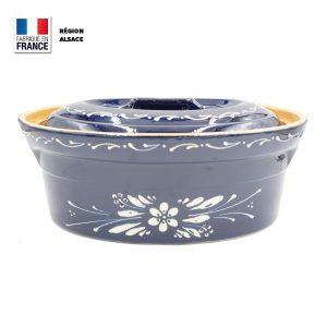 terrine baeckeoffe bleue fleur 6 personnes